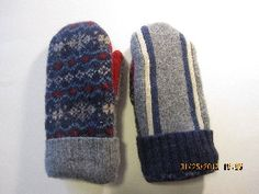 MISMATCHED Felted Wool Mittens Lined with Fleece by MittenMomma, $20.00