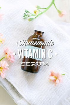 A super simple and affordable homemade vitamin c serum recipe. This recipe works so well! I can't believe the difference it's made on my skin!!