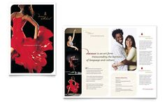 Dance School Brochure Template Design by StockLayouts