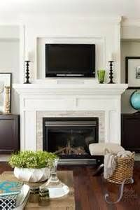 Mantel with tv above done well