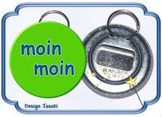 Flaschenöffner mit Schlüsselring, moin moin von Jasuki auf DaWanda.com