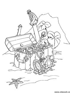 Pirate Art Activities For Preschoolers | Pirate Ship Coloring Page ...