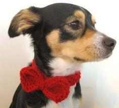 Crochet Dog Bow Tie
