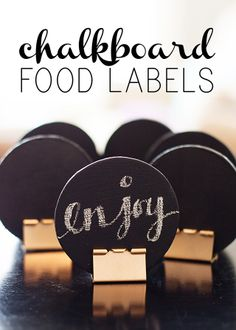 I just love my creative friends and contributors. Here's Anne sharing fun and stylish food labels perfect for your next party. Hey there everyone and happy March. Table Labels, Table Tag, Happy March, Food Signs, Chalkboard Labels, Chalkboard Paint, Diy Party, Party Food Labels Diy, Party Ideas