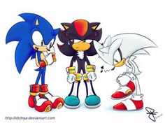 I think Silver looks good in those gloves. Sonic does too, but Shadow...keep trying, Shadow.