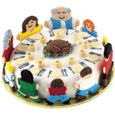 "Looking for a Thanksgiving cake idea? Check out our ""Thanks For Our Family Cake."""