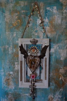 Secrets of the Heart- Wall Milagro. By: Cuban artist-Lazaro Iglesias Sold-