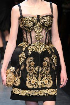 Dolce & Gabbana at Milan Fall 2012 (Details)