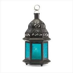 Blue Glass Moroccan Lantern --- http://www.amazon.com/World-Products-RR-37438-Moroccan/dp/B0011XWCKG/?tag=cheapbuydeals-20