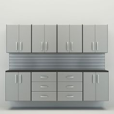 Flow Wall 10 piece Workstation in Silver