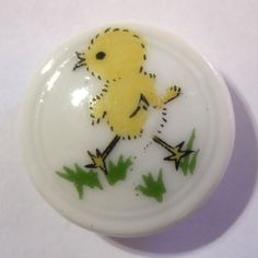 Adorable Vintage Porcelain Studio Button Little Baby Chick Chicken | eBay