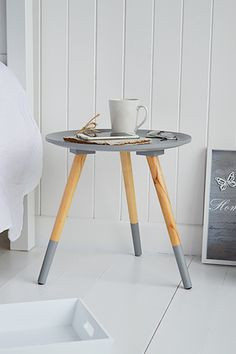extra small bedside table with baskets for storage 25 cm
