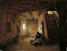 Andreas Achenbach - Der Bücherwurm (Die Entdeckerfreude)