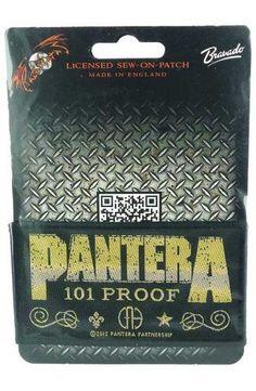 PANTERA - Whiskey Label (toppa piccola)   - misure: (larghezza 10 cent. - altezza 5,5 cent.)