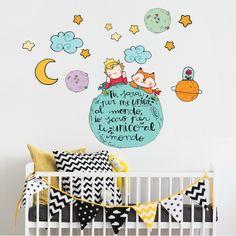 Il piccolo principe e la volpe sul pianeta The Little Prince Theme, Wall Murals, Wall Art, Infancy, Old Tv Shows, Cute Images, Animal Drawings, Baby Room, Graffiti