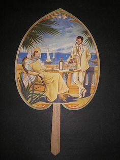 vintage fan advertising art nouveau original French belle epoche 1910