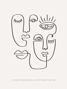 Face Line Drawing, Single Line Drawing, Drawing Base, Shirt Drawing, Woman Drawing, Simple Face Drawing, Continuous Line Drawing, Primitive Kunst, Primitive Decor