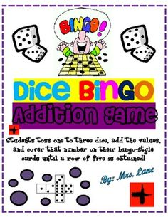 Dice Bingo Addition Game! (For Elementary)