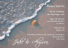 Beach Wedding Invitations   How to Make Your Own Beach Wedding Invitations thumbnail