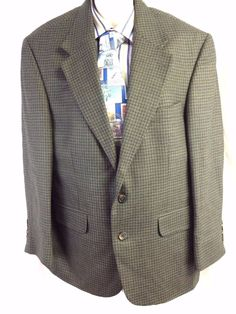 Joseph Feiss International Sport Coat 42S Lined Menswear Worsted Wool Blazer #JosephFeiss #TwoButton