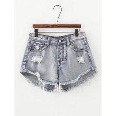 Frayed Bleached Denim Shorts Shorts Bare Culture Apparel #denim #jeans #womensfashion #style #fashion #ootd #barecultureapparel #shorts