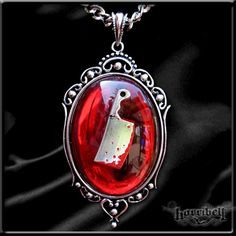 Red Bloody Meat Cleaver Necklace. $18.00, via Etsy.