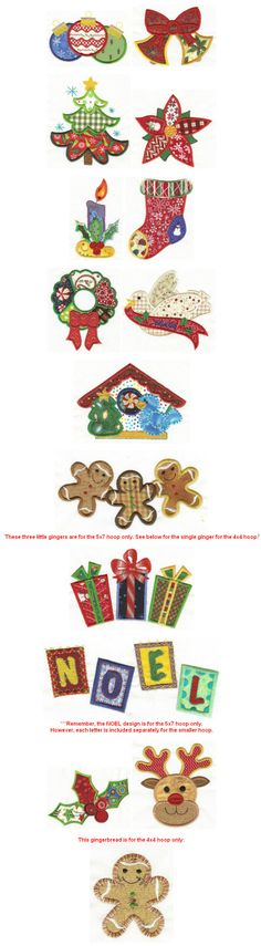 Embroidery | Free machine embroidery designs | Christmas Patchwork Applique  @Designs by JuJu