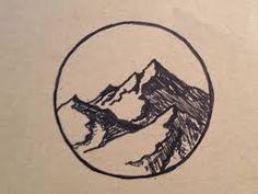Circle framed mountain design. I'd do something that looks more like the Ozarks.