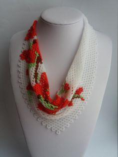 Flor granos coloridos delicado collar moldeado joyas mujeres