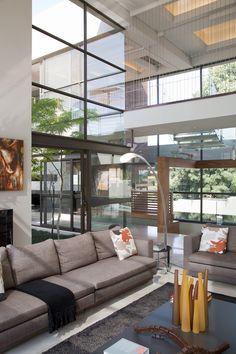 Modern Glass House Designed Around Three Massive Trees, Nico & Werner van der Meulen.