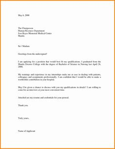 The terrific Cover Letter Sample For Job Application Doc Refrence Letter Throughout Job Application Template Word Document image below, is … Cover Letter Template, Cover Letter Sample, Letter Templates, Templates Free, Simple Job Application Letter, Job Application Template, Resume Cover Letter Examples, Cover Letter For Resume, Cover Letters