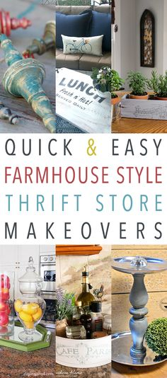 We all know that The Cottage Market Readers LOVE Thrift Store Makeovers and we love to give you what you really adore…so today we are combining a few things that you always ask for and that is Quick and Easy Farmhouse Style Thrift Store Makeovers…yep it is a trifecta for you today. These quick and …