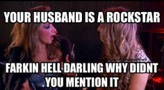 Your husband is a rockstar? - Gina Liano & Jackie Gillies meme - Real Housewives of Melbourne