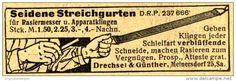 Original-Werbung/Anzeige 1912 - STREICHGURTEN FÜR RASIERMESSER / DRECHSEL & GÜNTHER MEINERSDORF - ca. 70 x 20 mm