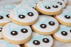 Postre Perfectamente Plaid Tabla para las galletas de azúcar Chicos de coches
