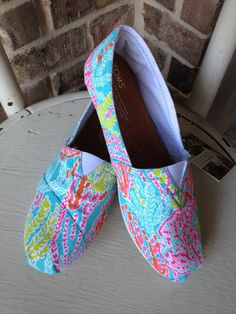 Lilly Pulitzer Let's Cha Cha TOMS on Etsy, $110.00
