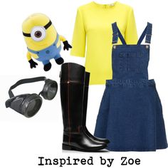 """Tween Fashion Inspired by Zoe - Halloween Minion Costume"" by lmgrisez on Polyvore"