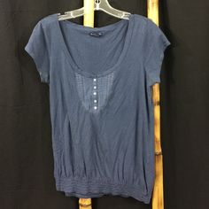 American Eagle Outfitters Shirt American Eagle Outfitters Shirt. Size large. Made in China. Color is navy blue. Elastic waist. 60% cotton. 40% modal. Machine wash. Tumble dry. Shirt is gently loved. Good condition fabric worn. American Eagle Outfitters Tops Tees - Short Sleeve