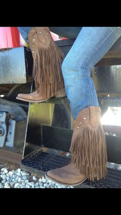 Vegas Fringe cowboy boots by Liberty from Cavender's. Vegas Fringe cowboy boots by Liberty from Cavender's. Fringe Cowboy Boots, Cowgirl Boots, Cowgirl Outfits, Country Outfits, Country Girls, Western Wear, Western Boots, Crazy Shoes, Me Too Shoes