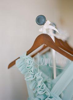 custom hangers make sweet bridesmaid gifts #wedding