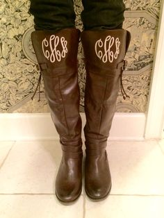 Everything's better with a monogram!  Monogram Boots. Monogram Lane.