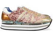 Bronzen/Gouden Premiata schoenen Beth sneakers