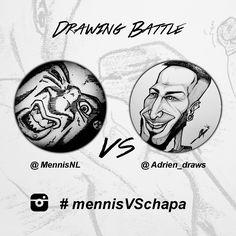 #mennisVSchapa   Online drawing battle