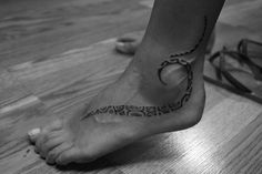 Love this Foot tattoo...this is exactly what I want...a wave and tribal looking! Beautiful