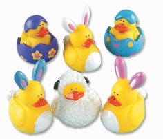 c98d75f8be3 One Dozen (12) Easter Rubber Ducky Party Favors Ducks