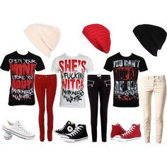 3 Interchangeable Motionless In White themed outfits. All involving my favorite colors! Scene Outfits, Rock Outfits, Emo Outfits, Grunge Outfits, Girl Outfits, Fashion Outfits, Scene Clothes, Emo Clothes, Aesthetic Grunge Outfit
