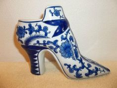 Vintage High Heel Shoe Ceramic Figurine