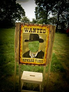 """Cowboys and Indians childrens party with Wanted Cutout- Come see who is """"wanted"""" at our Cowboys and Indians themed Youth Night November 9. Church Youth Night Kansas City"""