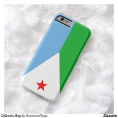 Djibouti, flag barely there iPhone 6 case