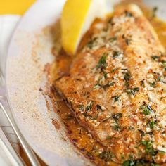 Broiled Catfish with Fresh Thyme, Garlic, and Lemon - This is a very quick dish, and is always best when made with #USCatfish!